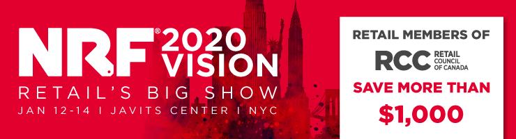NRF 2020 Retail's Big Show Jan 12-14, Javit's Center NYC - Retail members of RCC save more than $1,000