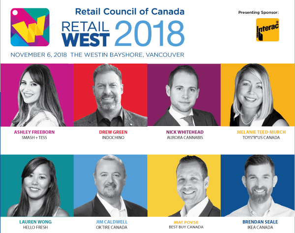 Photos of Retail West speakers