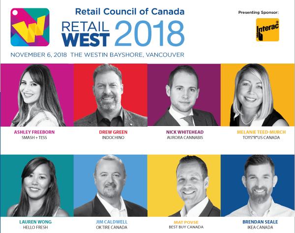 Photos of Retail West speakers
