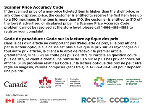 Scanner Price Accuracy Code Stickers