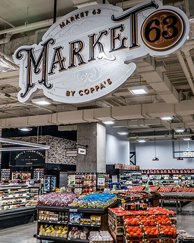 Market 63 by Coppas displays