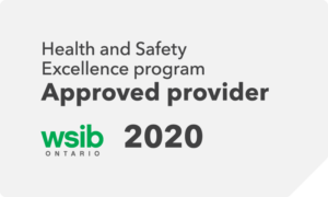 Health and Safety Excellence program Approved provider - WSIB 2020