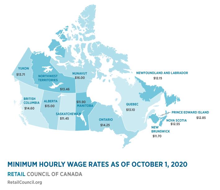 Minimum Wage Map