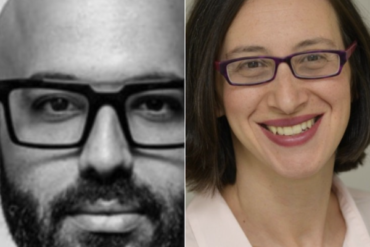 Tal Zvi Nathanel, CEO of Showfields and Danielle Goldfarb Head of Global Research, RIWI